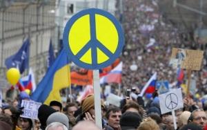 """Сегодня в Москве пройдет  """"Марш мира """" против войны в Украине.  Активнсть пользователей - обновления на сайте."""
