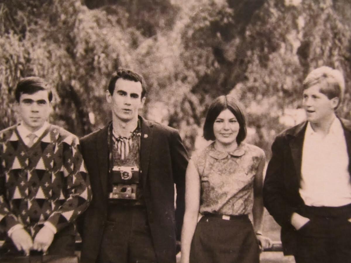 У Чэхаславаччыне падчас вандроўкі па студэнцкаму абмену (Карлавыя Вары, жнівень 1966)